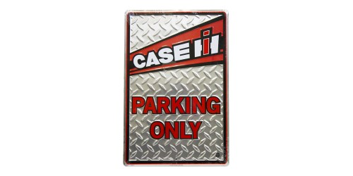Affiche de métal ''Case IH parking only''