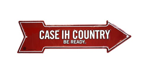 Affiche en métal rouge ''Case IH country be ready''