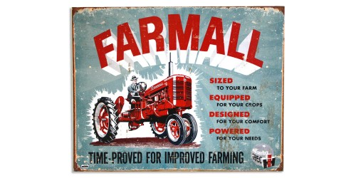 Affiche de métal  ''Farmall time-proved...''