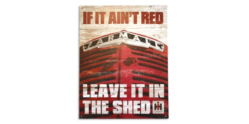 Affiche de métal  ''If it ain't red''