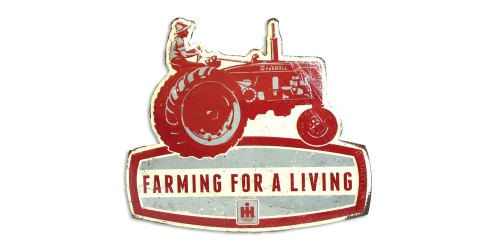 Affiche de métal  ''Farming for a living''