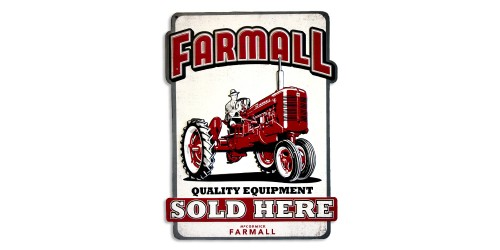 Affiche de métal  ''Farmall quality equipment''