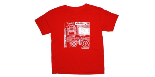 T-Shirt  rouge Case iH - Magnum